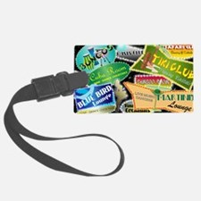 RETRO NIGHT CLUBS TOILETRY BAG Luggage Tag