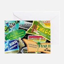 RETRO NIGHT CLUBS TOILETRY BAG Greeting Card