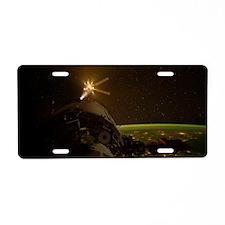 Stars In The Night Sky Aluminum License Plate