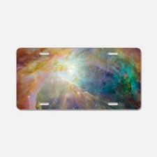 Clouds of Space Gas Aluminum License Plate