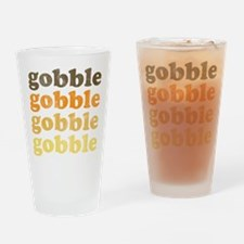 Thanksgiving Retro Drinking Glass
