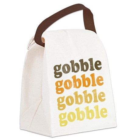Thanksgiving Retro Canvas Lunch Bag
