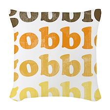 Thanksgiving Retro Woven Throw Pillow