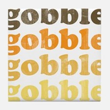 Thanksgiving Retro Tile Coaster