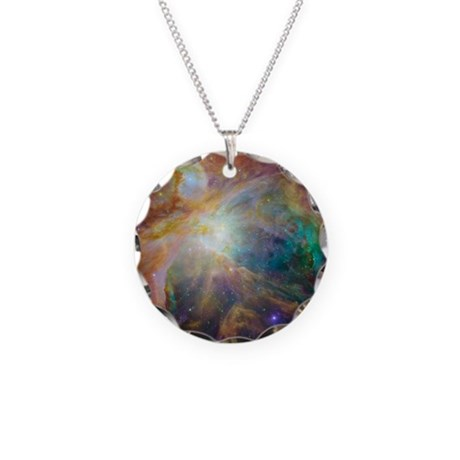 Clouds of Space Gas Necklace Circle Charm