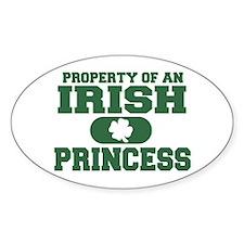 Property of an Irish Princess Oval Decal