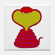 Cartoon Cobra Snake Tile Coaster