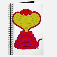 Cartoon Cobra Snake Journal
