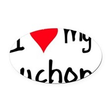iheartzuchon Oval Car Magnet