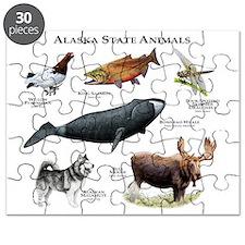 Alaska State Animals Puzzle