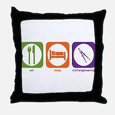 Eat Sleep Civil Engineering Throw Pillow