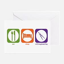Eat Sleep Civil Engineering Greeting Cards (Packag