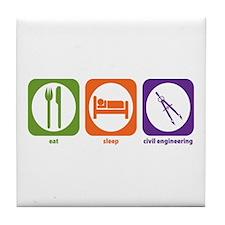 Eat Sleep Civil Engineering Tile Coaster