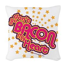 baconheart Woven Throw Pillow
