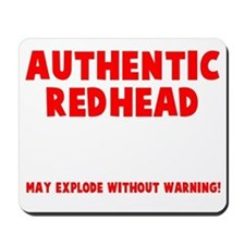 Authentic Redhead Mousepad