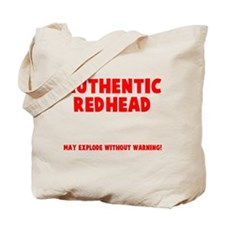 Authentic Redhead Tote Bag