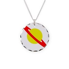 saturn ma Necklace Circle Charm