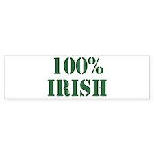 100% Irish Bumper Bumper Bumper Sticker