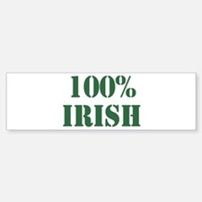 100% Irish Bumper Bumper Bumper Sticker