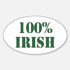 100% Irish Oval Decal