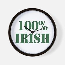 100% Irish Wall Clock