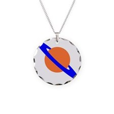 saturn pa Necklace Circle Charm