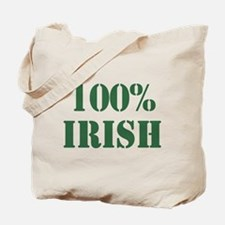 100% Irish Tote Bag