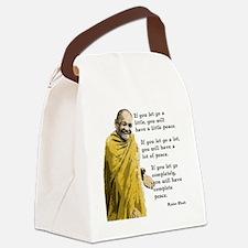 Let Go a Little Canvas Lunch Bag