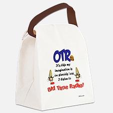 OTR Imagination Old Time Radio Canvas Lunch Bag