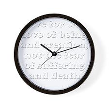 blovenotfear Wall Clock