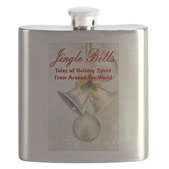 Jingle Bells Book Cover Flask