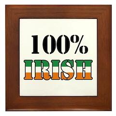 100 Percent Irish Framed Tile