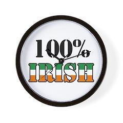 100 Percent Irish Wall Clock