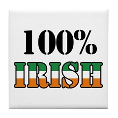 100 Percent Irish Tile Coaster