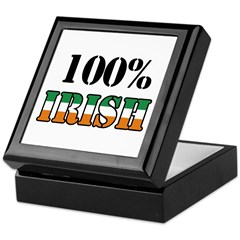 100 Percent Irish Keepsake Box
