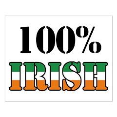 100 Percent Irish Posters
