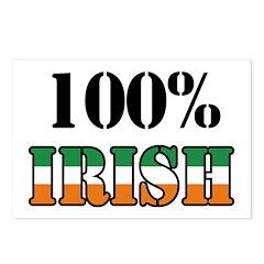 100 Percent Irish Postcards (Package of 8)