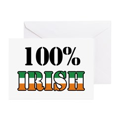100 Percent Irish Greeting Cards (Pk of 10)