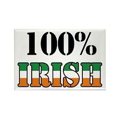 100 Percent Irish Rectangle Magnet