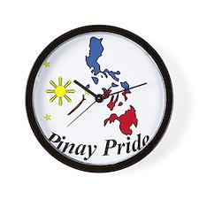 Pinay Pride Wall Clock