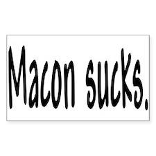 Macon sucks. Rectangle Decal