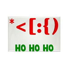 Santa Emoticon Ho Ho Ho Rectangle Magnet