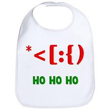 Santa Emoticon Ho Ho Ho Bib