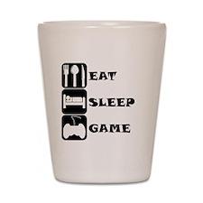 Eat Sleep Game Shot Glass