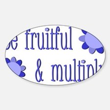 Be fruitful and multiply! blue desi Decal