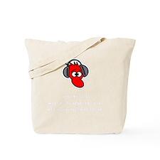 Headphone Farts White Tote Bag