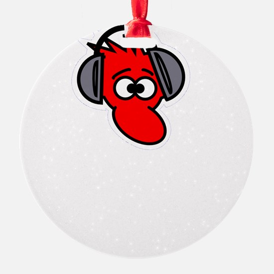 Headphone Farts White Ornament
