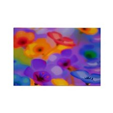 Beautiful Flowers Rectangle Magnet