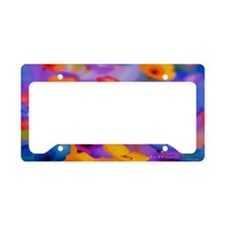 Beautuful Flowers License Plate Holder