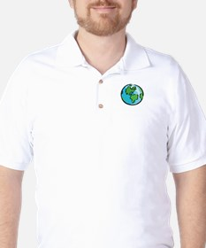 Save Earth Chocolate White T-Shirt